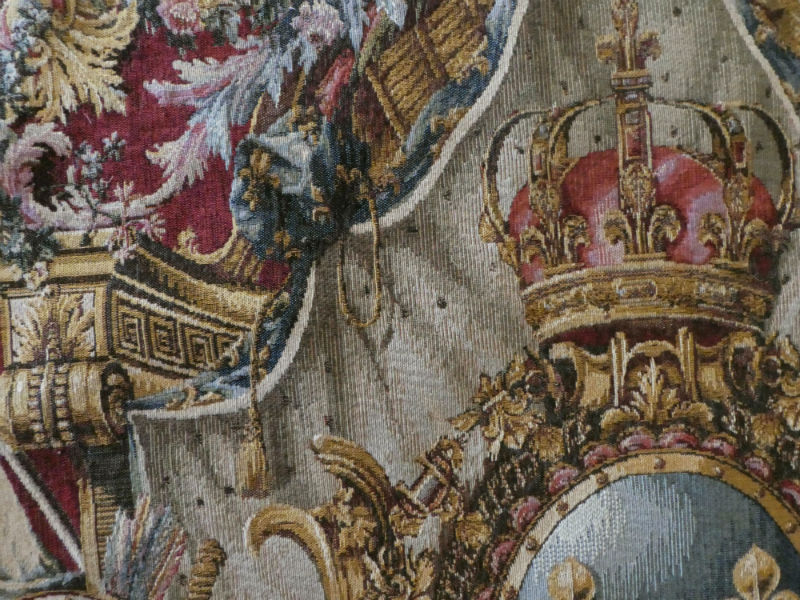 Coat of Arms of France tapestry detail