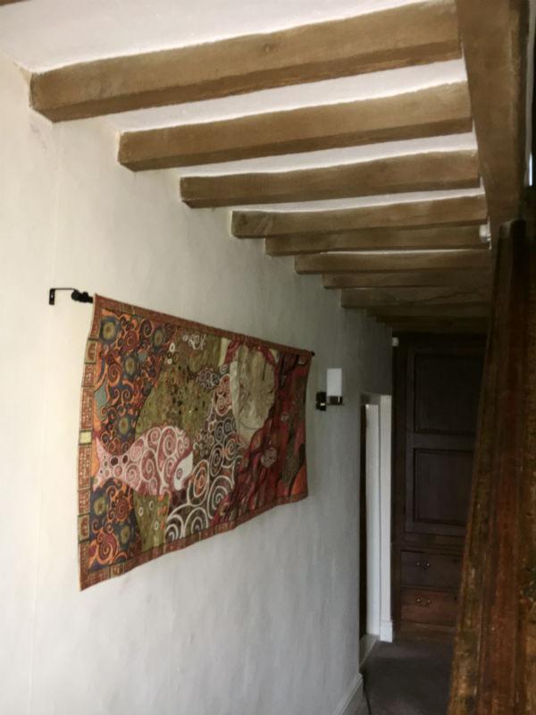 Danae by Gustav Klimt tapestry hanging