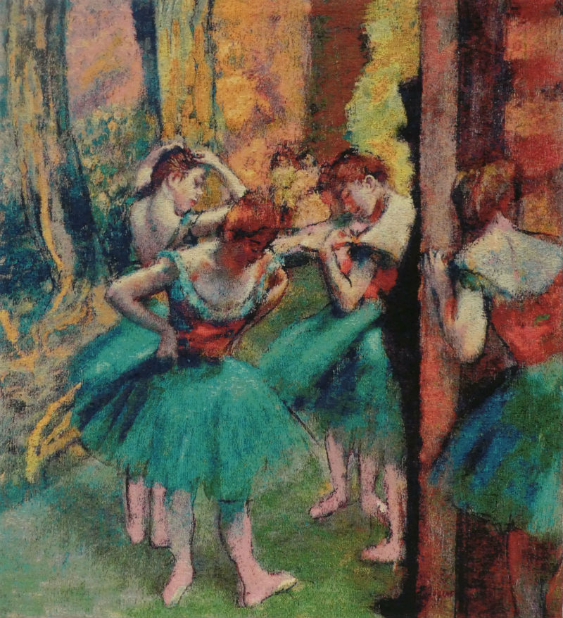 Edgar Degas Dancers, Pink and Green tapestry wall-hanging