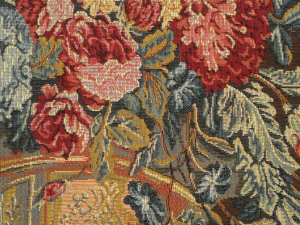 Close-up detail - French tapestry wall-hanging