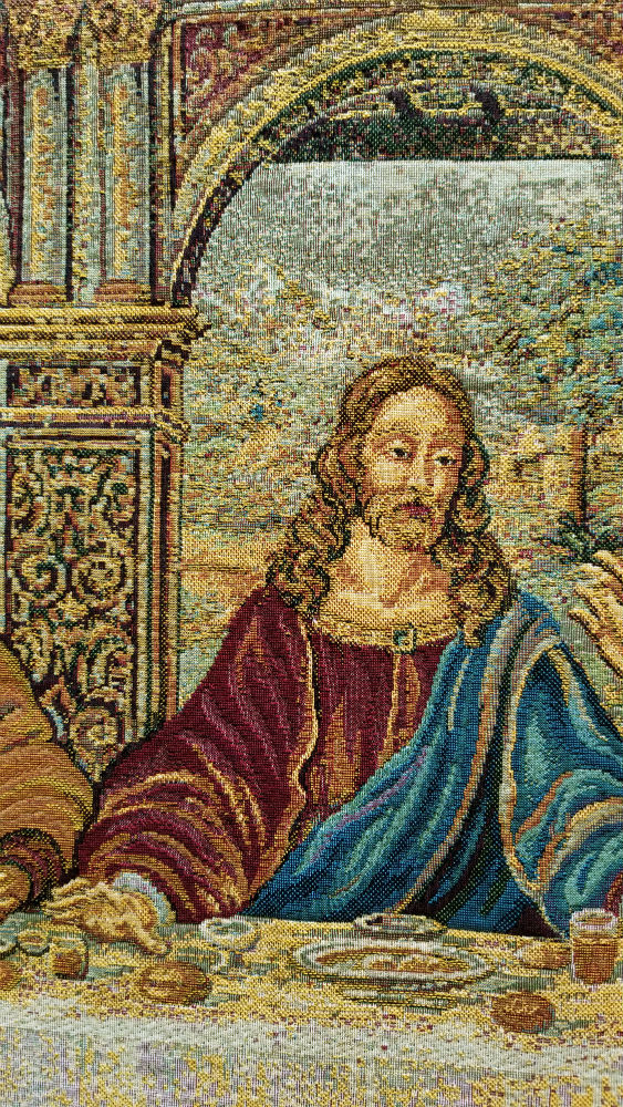 Detail of the Last Supper tapestry