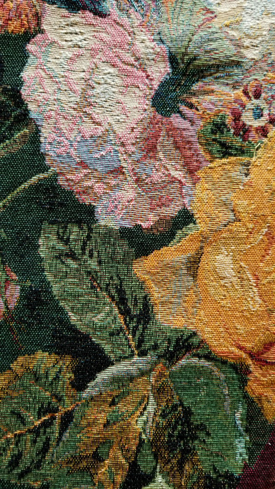 Detail of the Grand Bouquet Flamand tapestry