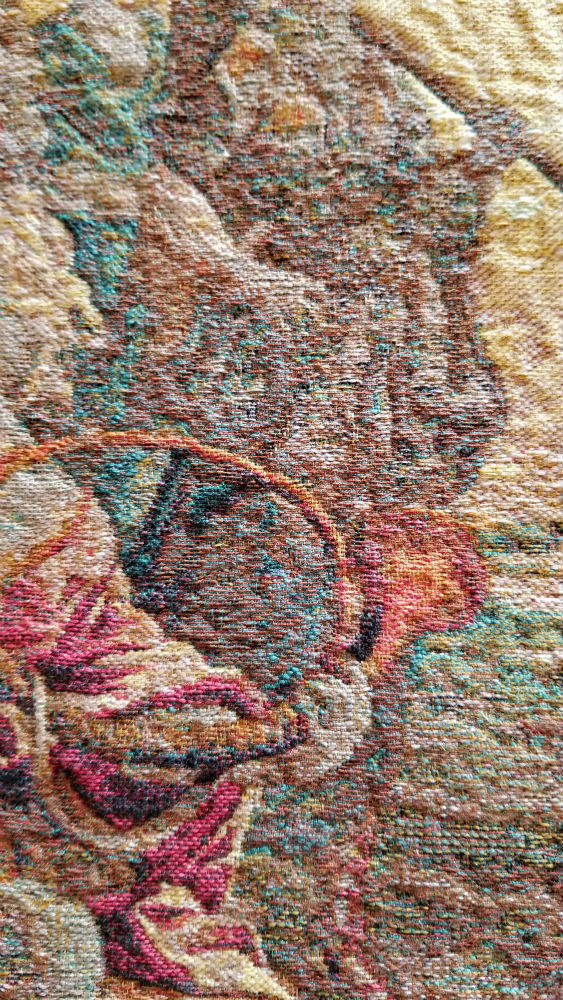 Diana tapestry close-up detail - Oudenaarde tapestries