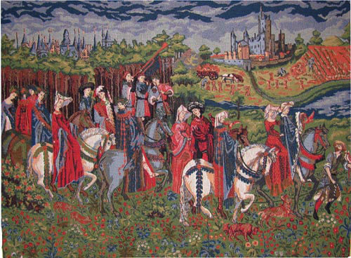 Duc de Berry tapestry - Tres Riches Heures medieval tapestries