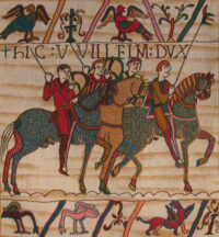 Bayeux Tapestry cavalry - Battle of Hastings tapestries