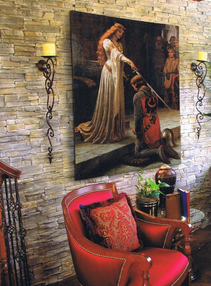 Edmund Blair Leighton - The Accolade tapestry