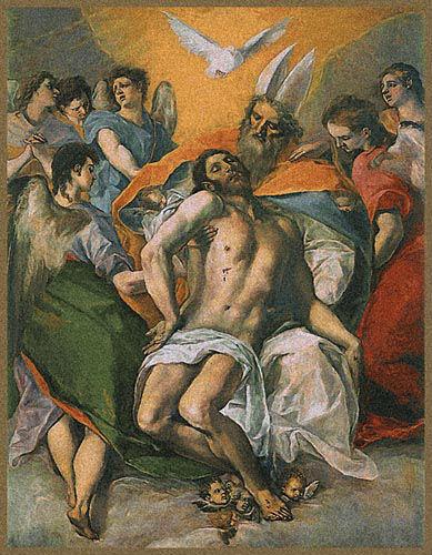 El Greco Trinity tapestry - Belgian wall-hanging - Museo del Prado