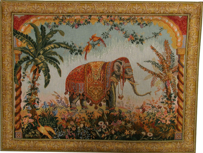 The Elephant tapestry - French wall tapestries