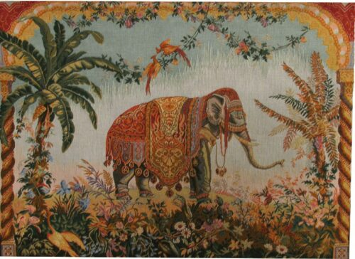 Elephant tapestry - French wallhanging tapestries