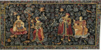 Embroidery and Music tapestry - medieval wall tapestries