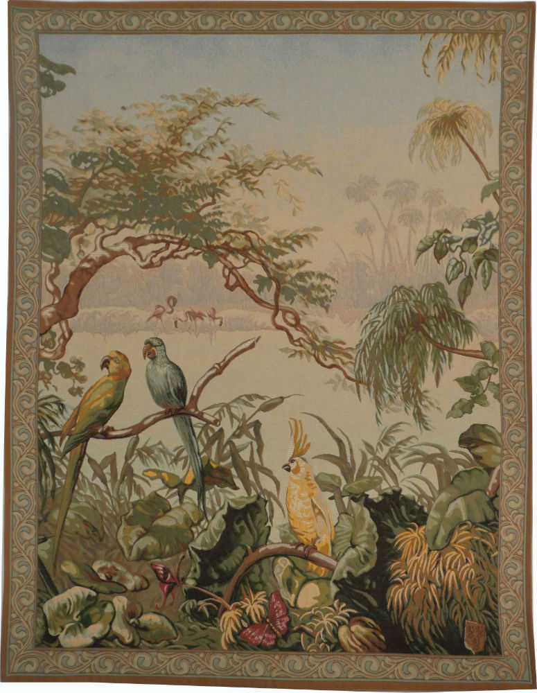 Exotic Birds Tapestry French Tapestry Wall Hanging