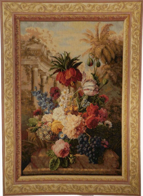 Exotic Bouquet tapestry - fine French wall tapestries