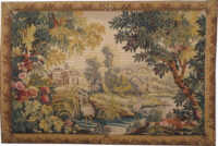 Flamingos at the River Lignon - French Aubusson tapestry