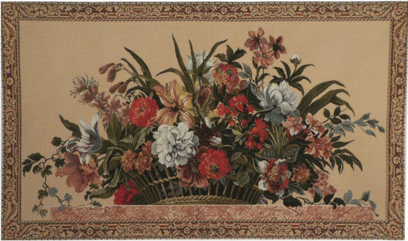 Floral Basket tapestry - French wall tapestries on sale