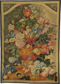 Floral Still Life tapestry - traditional bouquet - woven in France