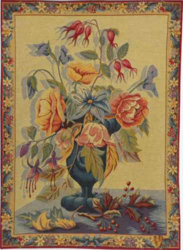 Flowers in a Blue Vase tapestry - tapestries on sale