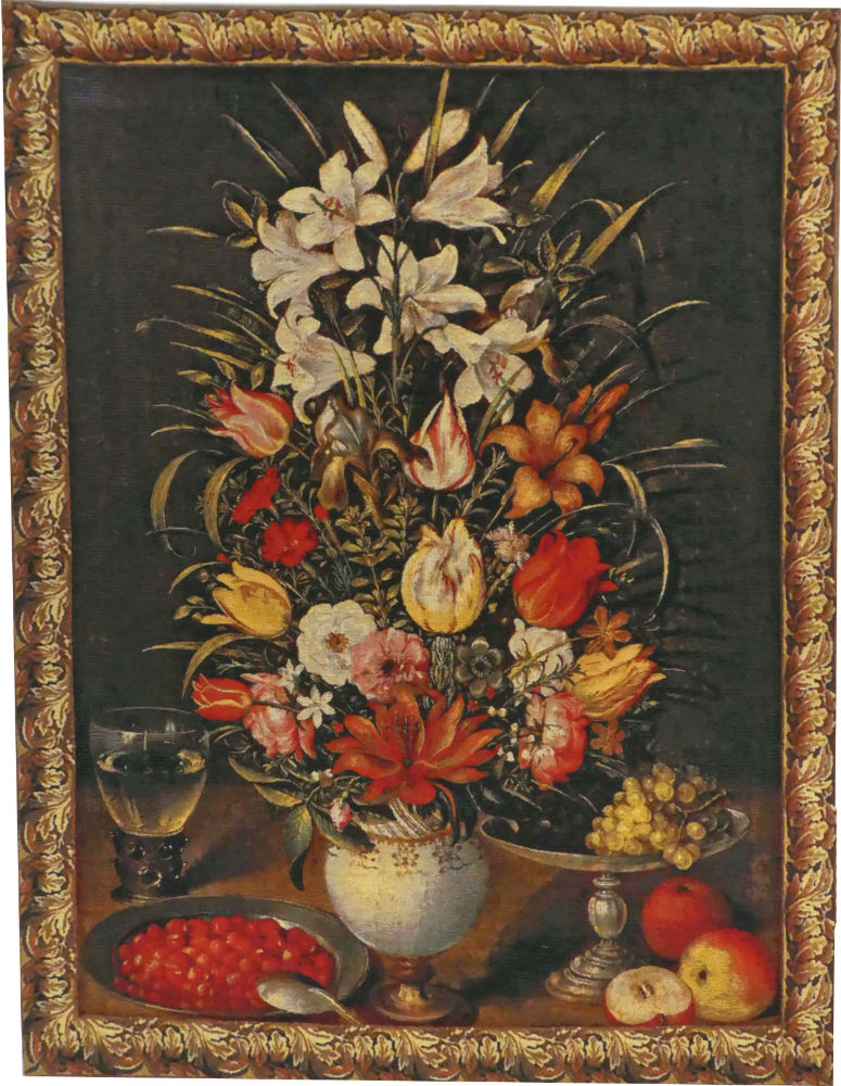 Flowers in a Vase tapestry - Jan Breughel tapestries