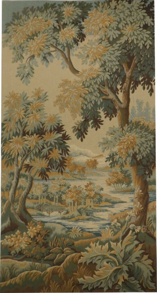 Forest of Clairmarais tapestry - French verdure tapestries