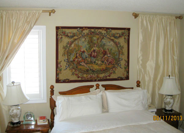 Francois Boucher tapestry - hanging in a bedroom