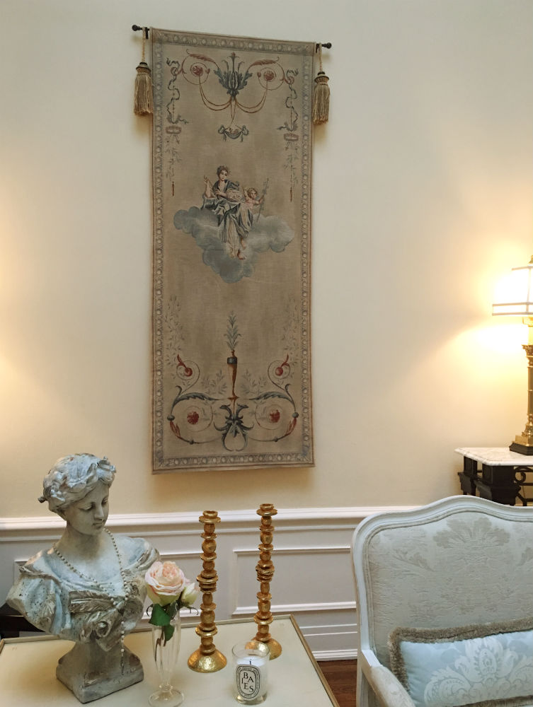 French portiere tapestry hanging