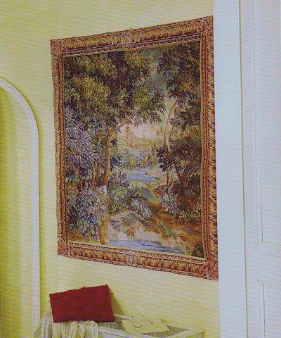 French woodland-wall tapestry hanging