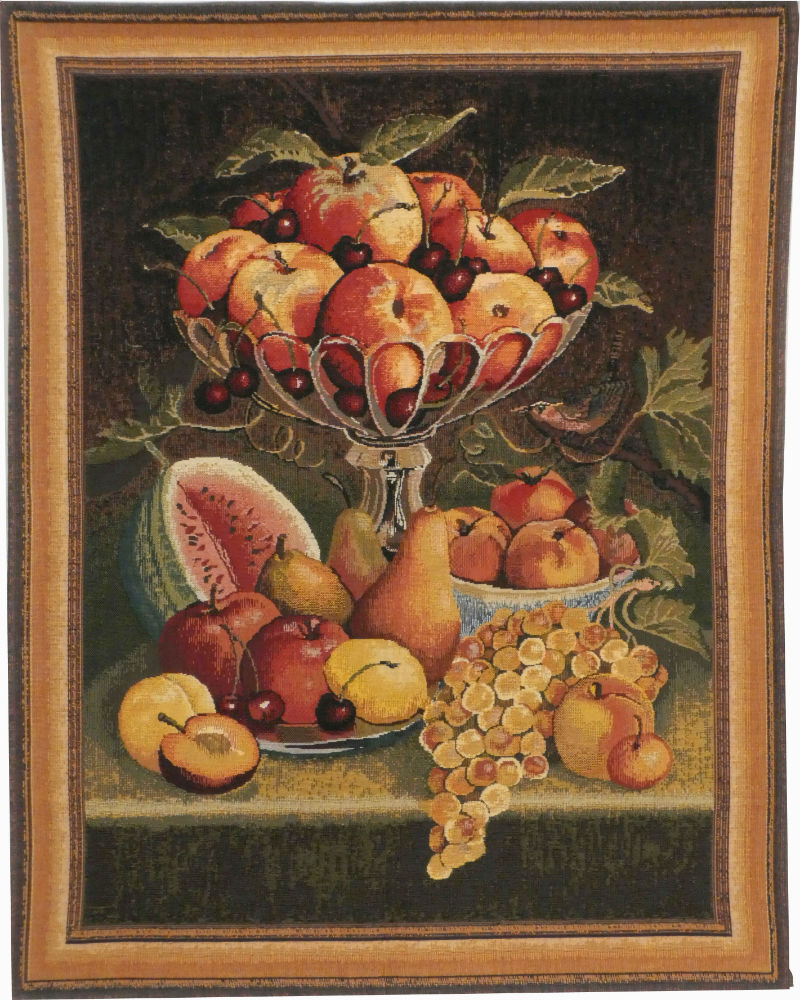 Fruit on a Table - discontinued Belgian tapestry on sale