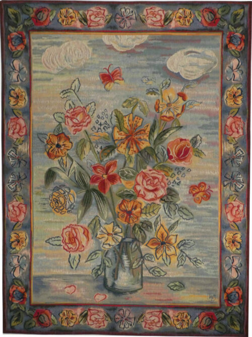 Garden Flowers in Vase tapestry - Raoul Dufy painting