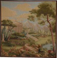 Garden Panorama tapestry - wall tapestry woven in France