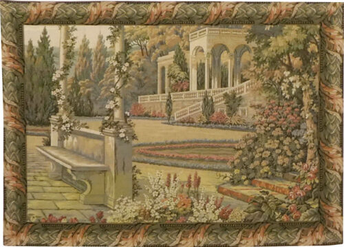 Gardens at Lake Como tapestryt - Italian wall tapestries