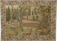 Gardens at Lake Como tapestry - 18th century tapestries