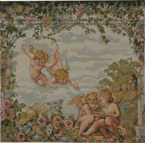 Gazebo Cherubs tapestry - Italian wall-hanging on sale