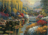 Giverny Pond tapestry - Claude Monet's gardens tapestries