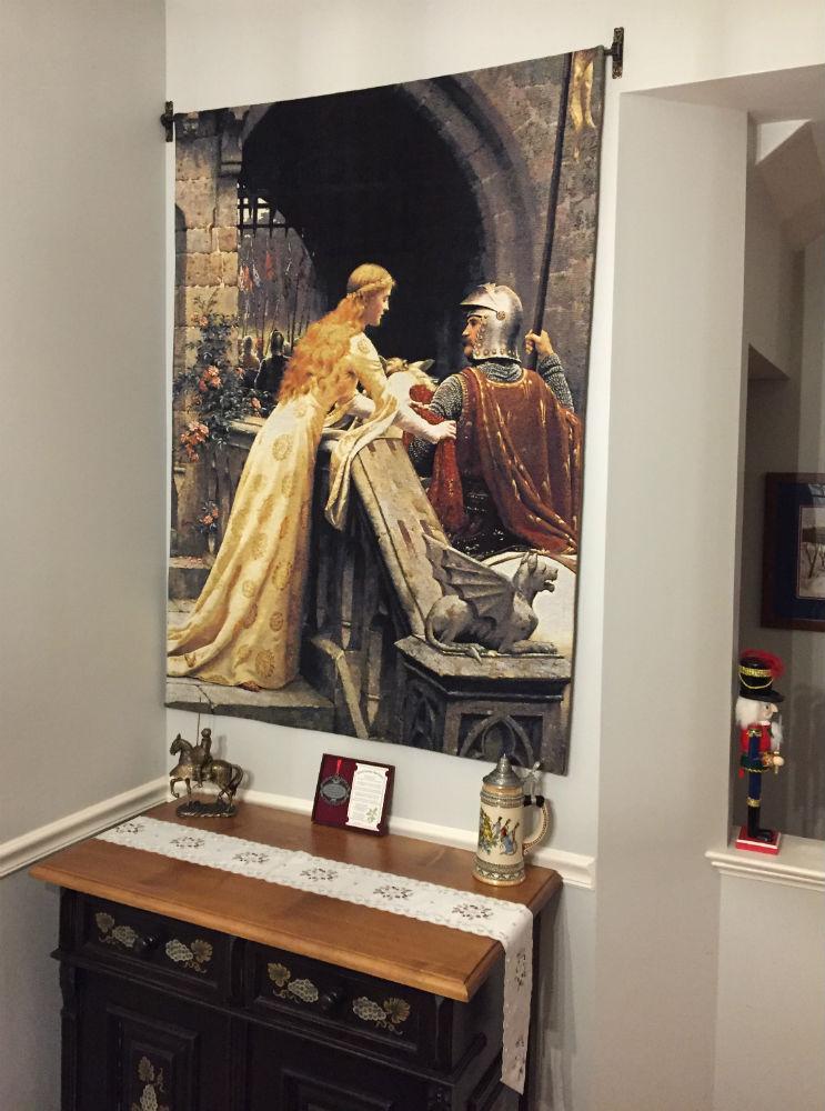 God Speed Edmund Leighton tapestry