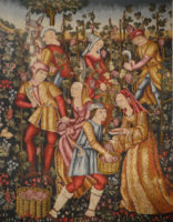 Grapes Harvest tapestry - Musée National du Moyen Age