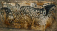 Hands and Horses tapestry - cave paintings tapestries