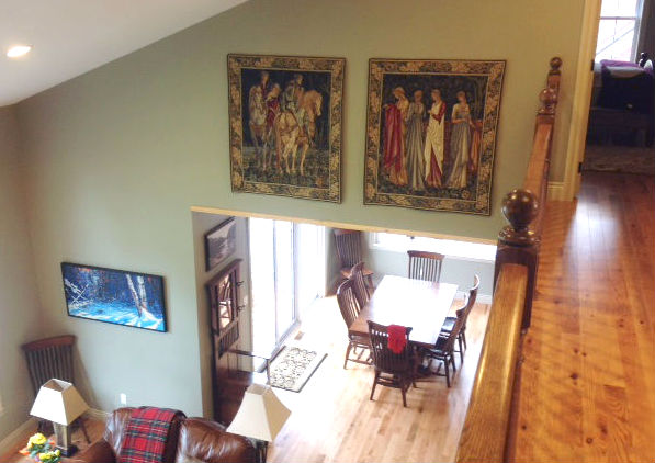 Holy Grail tapestries by Burne-Jones - Ladies of Camelot tapestry