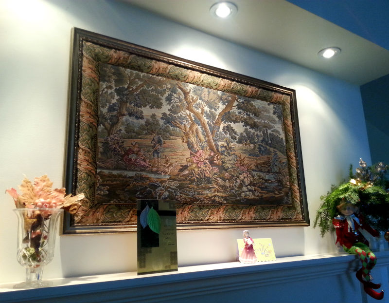 Framed Hunters Rest tapestry - Italian hunting tapestries