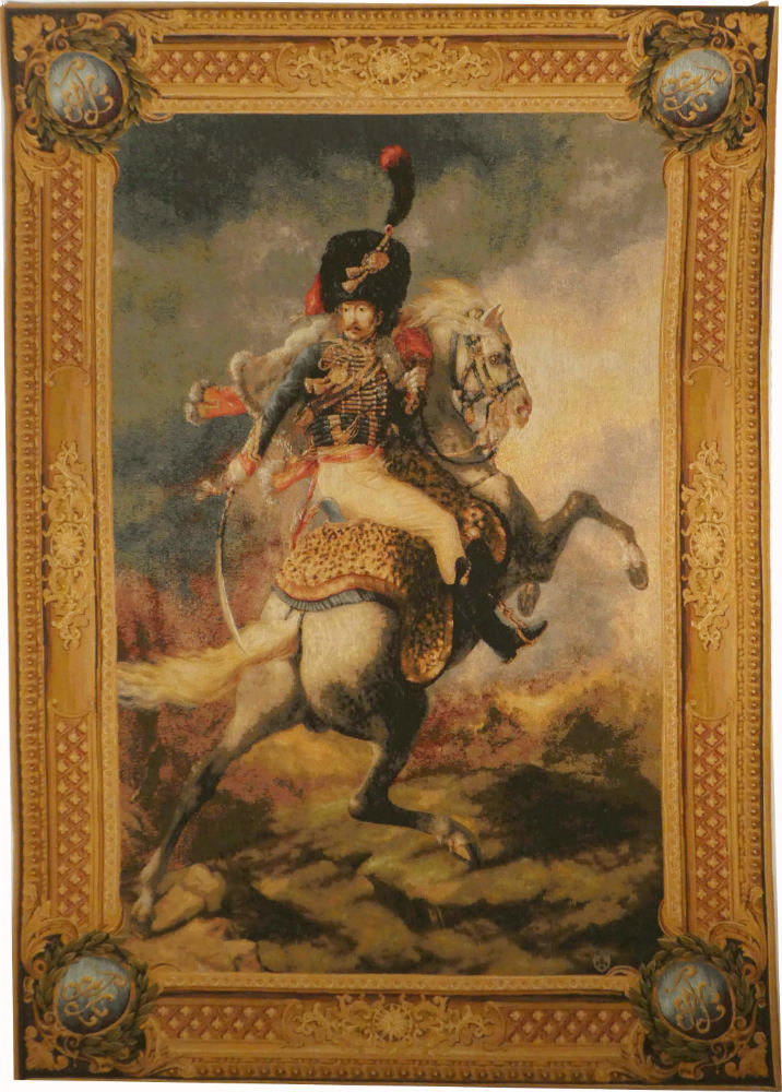 Imperial Cavalier tapestry - Napoleonic tapestry wallhanging