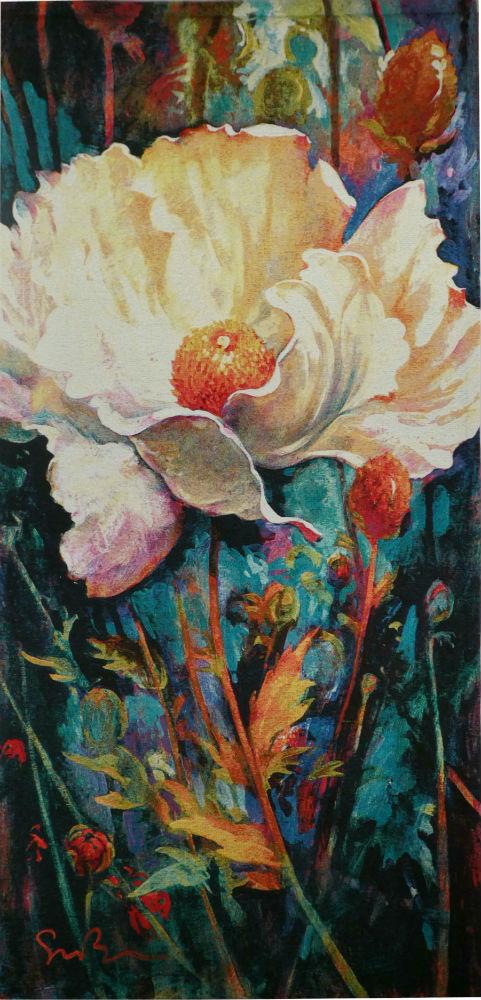 In Your Light Blue tapestry - Simon Bull art tapestries