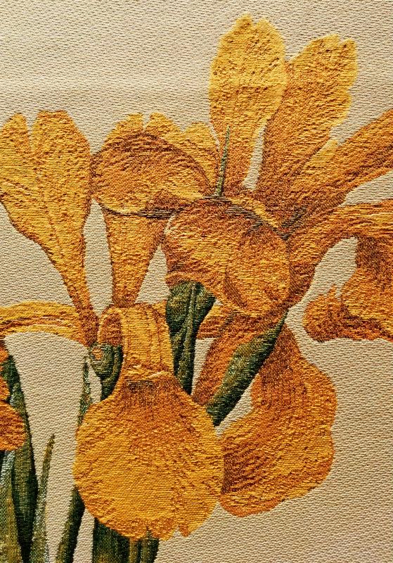 Iris Monnieri tapestry tablecloth - botanical tapestries