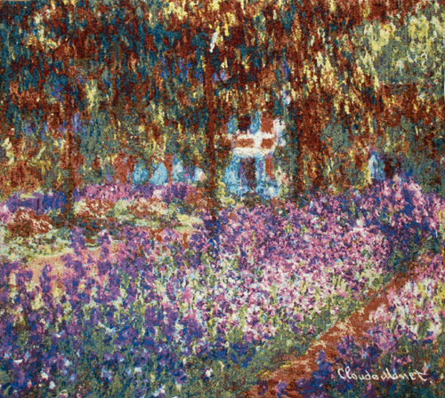 Irises in Monets Garden tapestry - Impressionist wall-hanging
