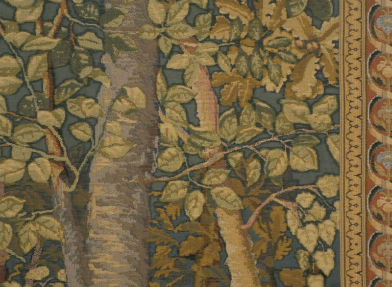 Jagaloon tapestries detail - castle at Wawel tapestry