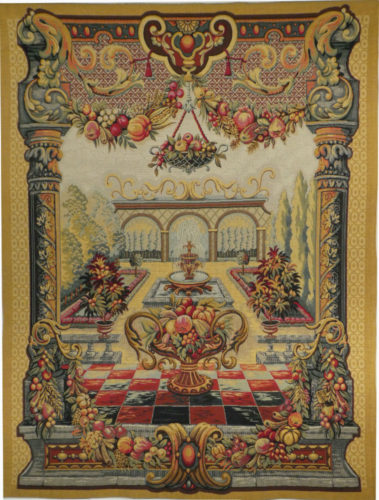 Jardin de Bagatelle tapestry - French tapestries on sale