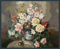 Jolly Bouquet tapestry - spring flowers - woven in Belgium