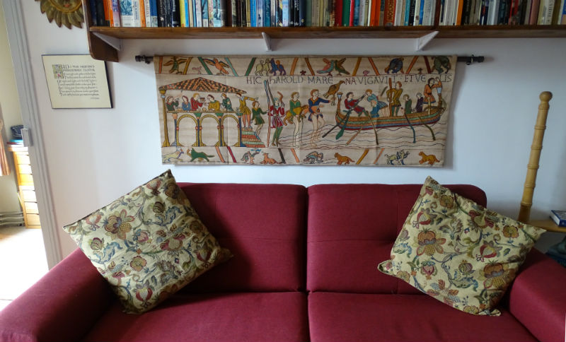 KIng Harold goes to Normandy tapestry