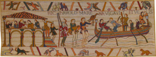 King Harold tapestry - The Bayeux Tapestry - goes to Normandy