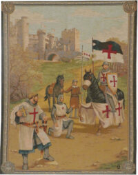Knights Templar tapestry - wall tapestry woven in France