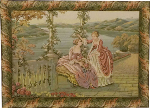 Ladies by the Lake tapestry - Lake Como tapestries
