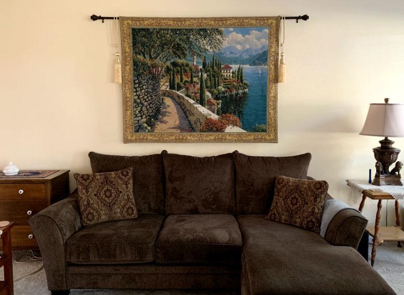 Lake Como tapestry hanging - Varenna Vista wallhanging