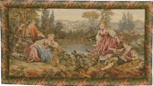 Lakeside Trysts tapestry - Boucher Noble Pastorale tapestries